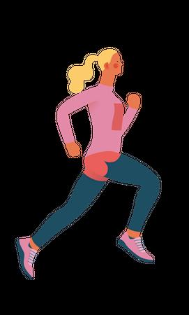 Female athlete Illustration