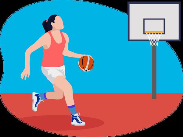 Female basketball player Illustration