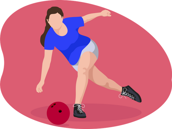 Female bowler Illustration