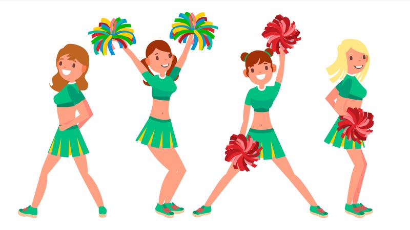 Female Cheerleader Illustration