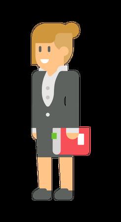 Female executive Illustration