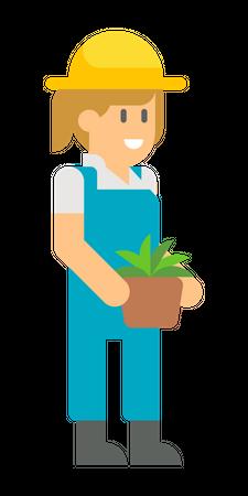 Female farmer Illustration