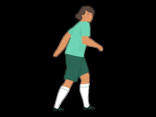 Female footballer Illustration