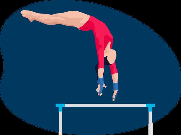 Female gymnast Illustration