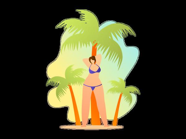 Female in swimsuit Illustration