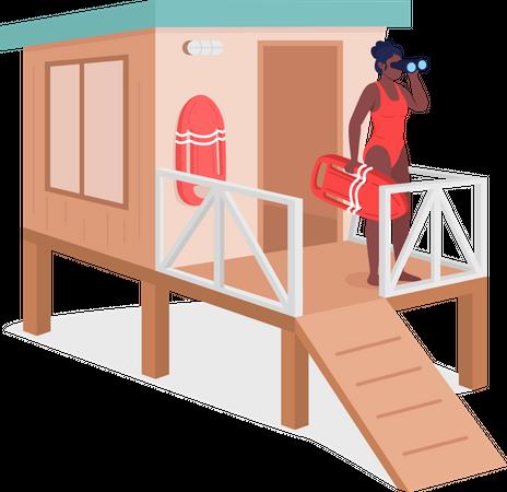 Female life guard Illustration