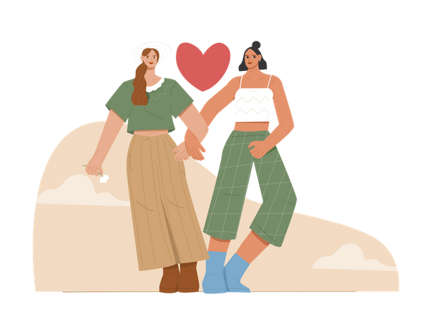 Female Lovers Illustration
