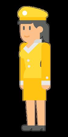 Female officer Illustration