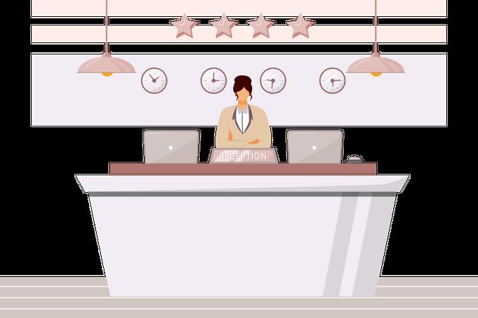 Female receptionist Illustration