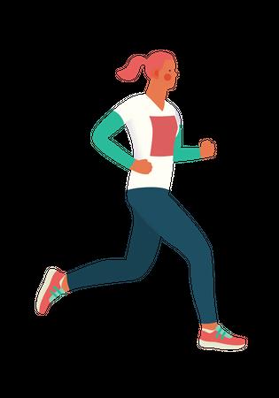 Female runner Illustration