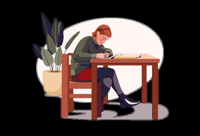 Female student Illustration