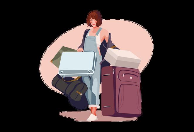 Female traveler Illustration