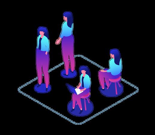 Female worker Illustration