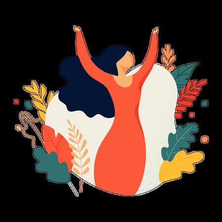Feminine concept Illustration