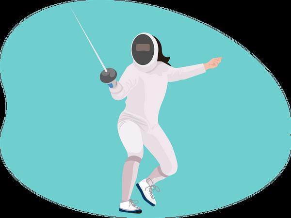 Fencer Illustration