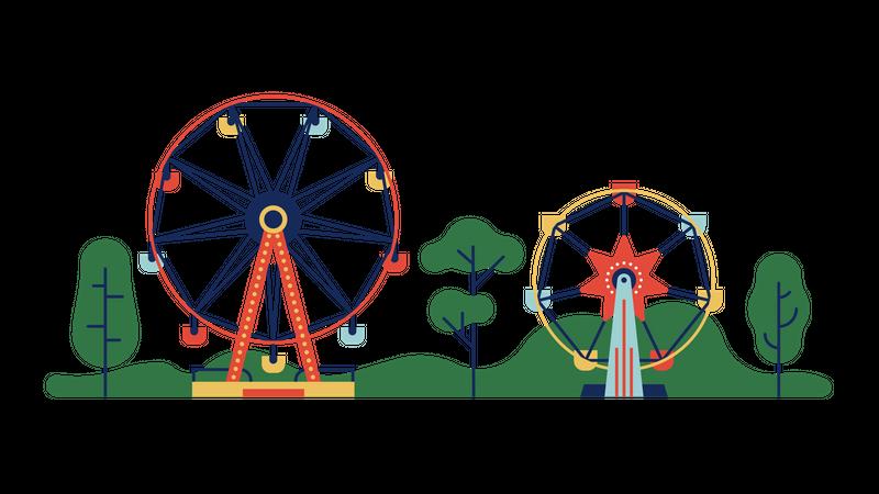 Ferris wheel Illustration