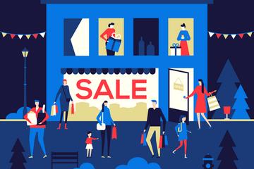 Shopping Sale Illustration Pack