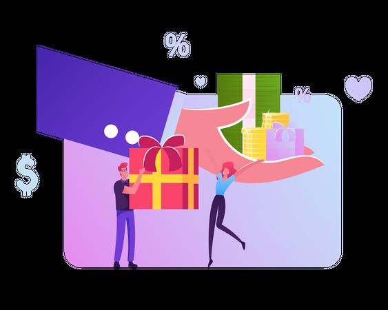 Festive Sale and Shopping Promotion Offer Illustration