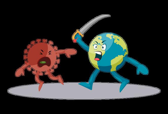 Fight against coronavirus Illustration