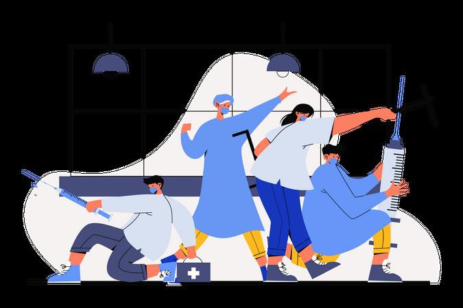 Fight the Virus Illustration