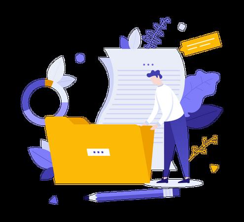 File management system Illustration