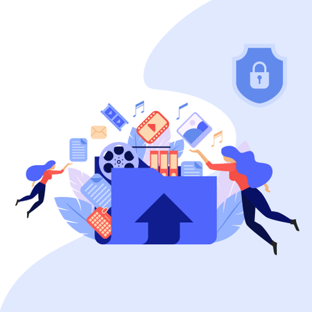 File sharing center service Illustration