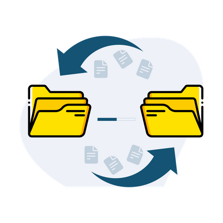 File transfer Illustration