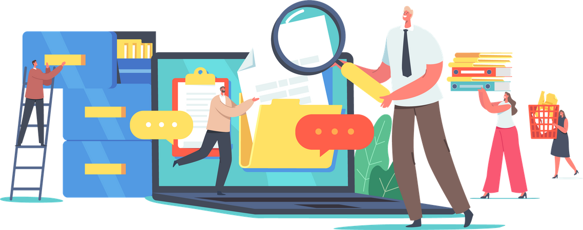 Files Organization Illustration