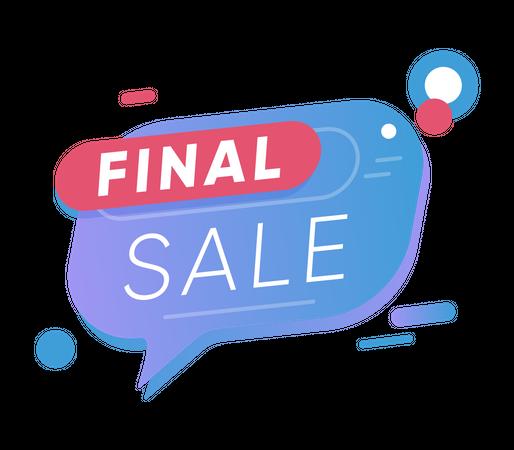 Final offer sale Illustration