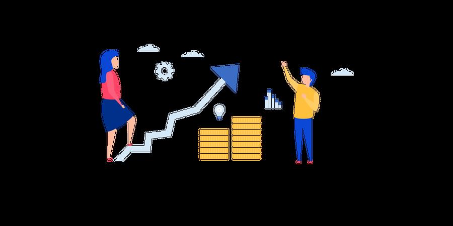Finance Growth Illustration