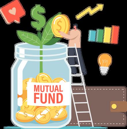 Finance Help via Mutual Fund Business Illustration