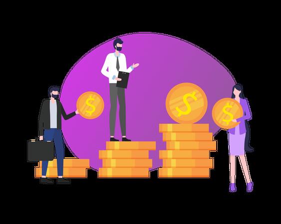 Finance management Illustration