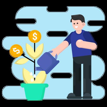Finance money growth Illustration