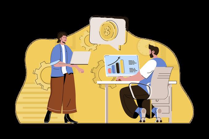 Financial analysis Illustration