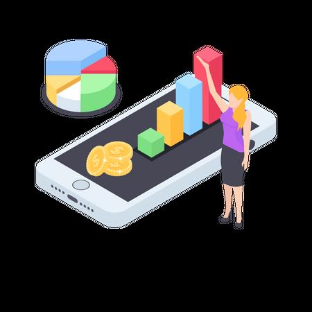 Financial analytics Illustration