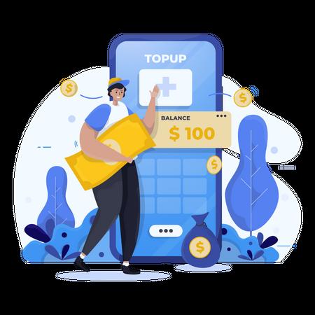 Financial App Illustration