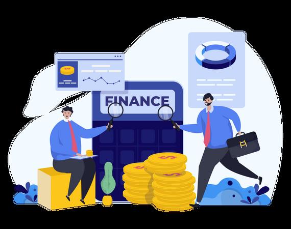 Financial audit Illustration