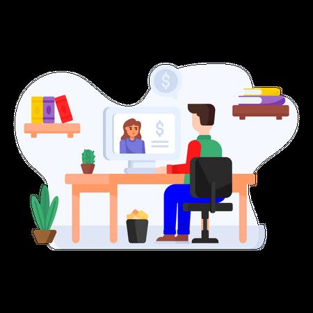 Financial Consultation Illustration