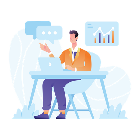 Financial Consulting Expert Illustration