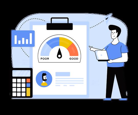 Financial Credit Score Illustration