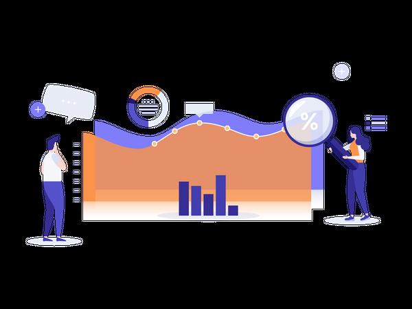 Financial Data Analysis Illustration
