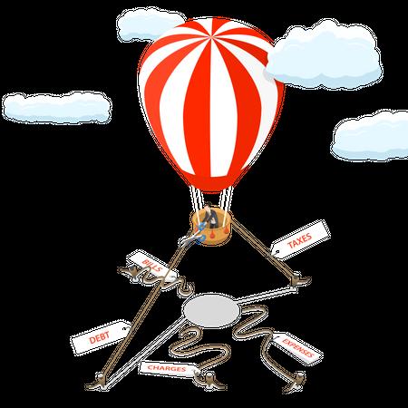 Financial freedom Illustration