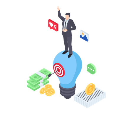 Financial goal Illustration