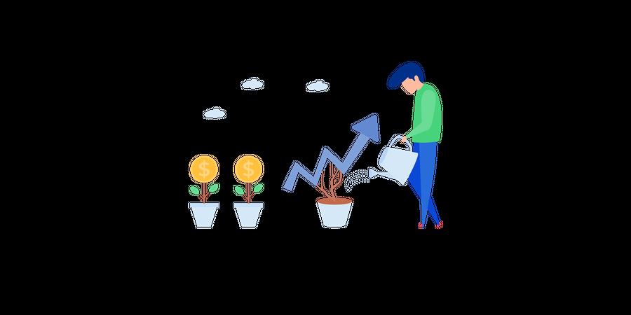Financial Growth Illustration Illustration