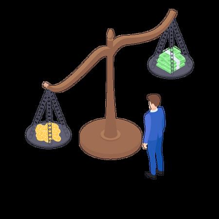 Financial inequality Illustration
