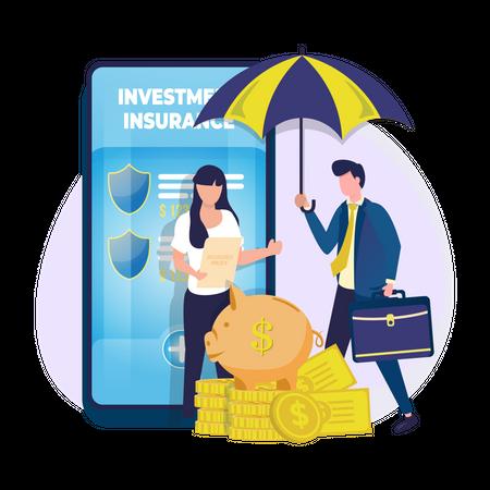 Financial insurance Illustration