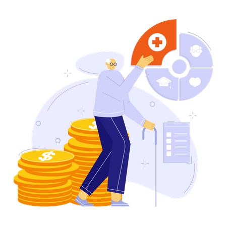 Financial planning for healthcare Illustration