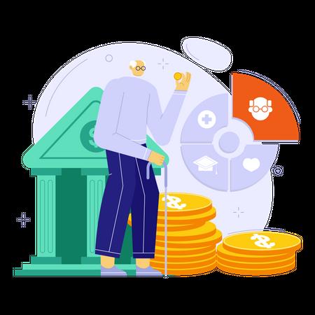 Financial planning for Retirement Illustration