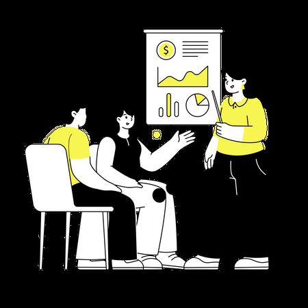 Financial Presentation Illustration
