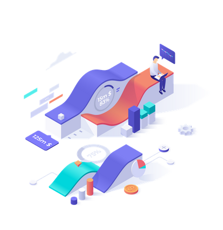 Financial process data and optimization Illustration